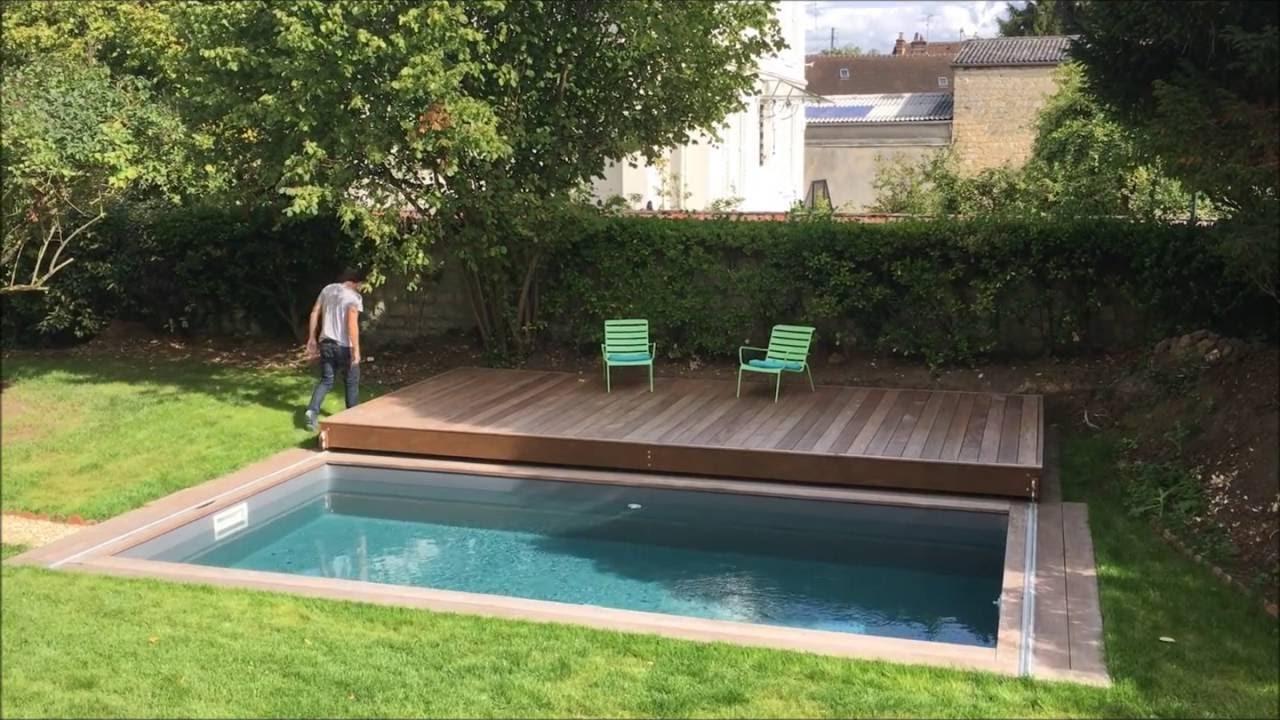 Terrasse Mobile Coulissante De Piscine : Un Rolling-Deck® En ... à Fabriquer Une Terrasse Mobile Pour Piscine