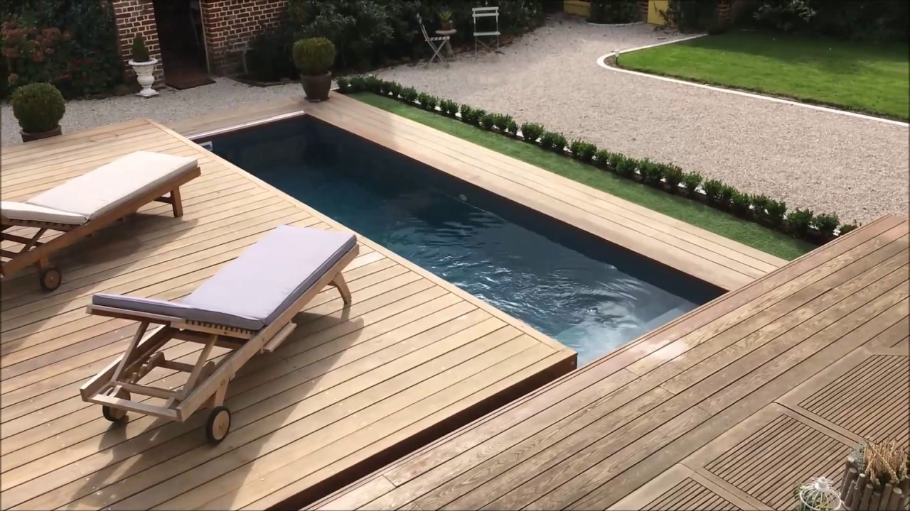 Terrasse Mobile Coulissante De Piscine : Un Rolling-Deck® En Un Module À  Ouverture Latéral intérieur Fabriquer Une Terrasse Mobile Pour Piscine