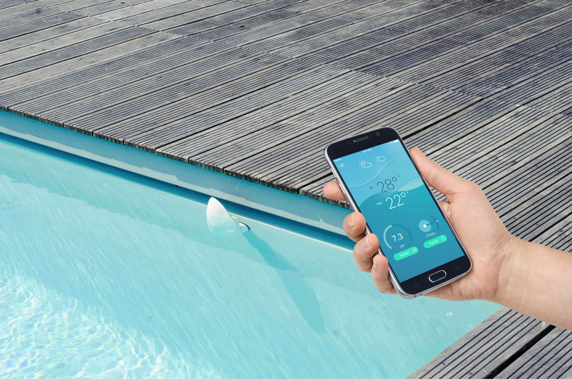Test De Flipr, Votre Ami Pour La Gestion De Votre Piscine à Thermometre Piscine Wifi