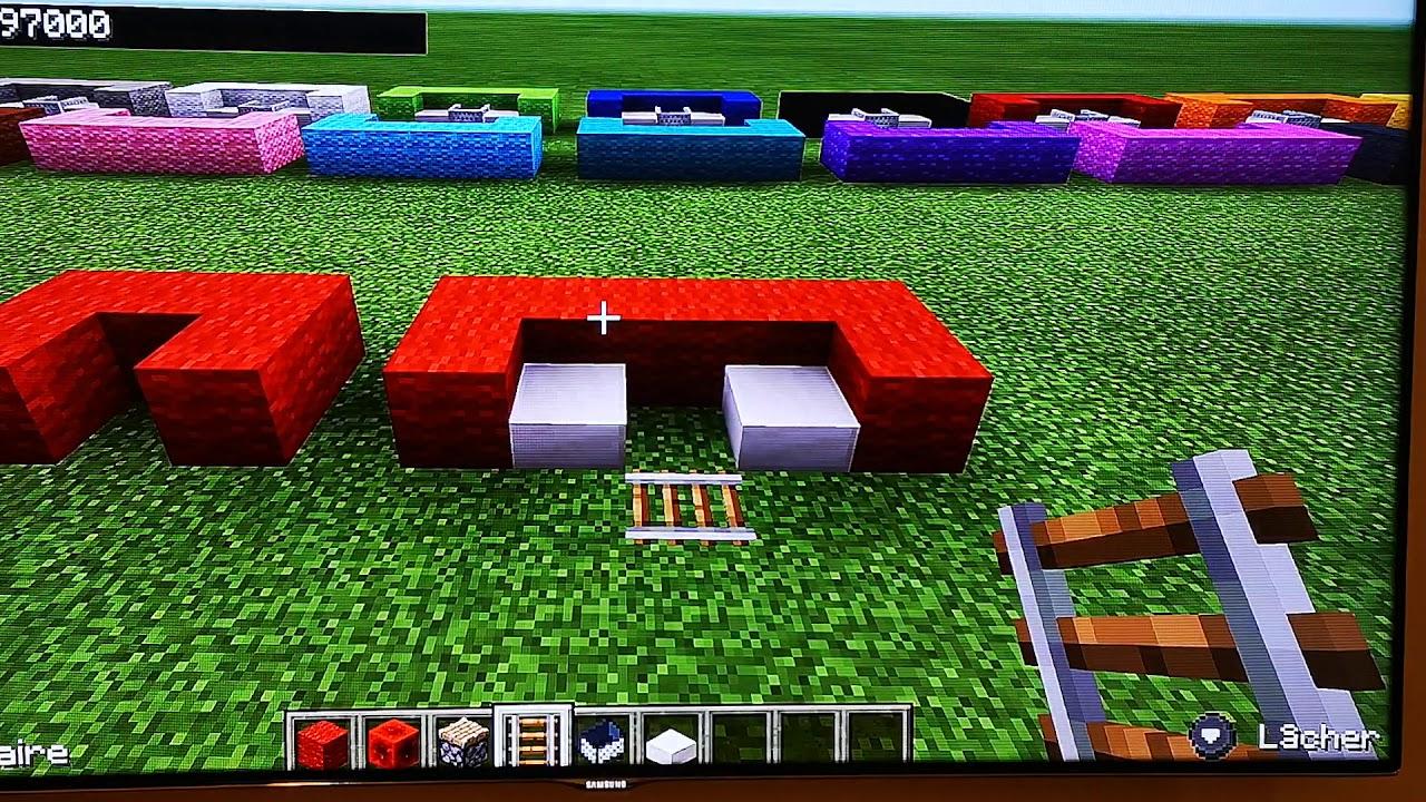 Tuto Canapé Fonctionnel Minecraft avec Minecraft Canapé