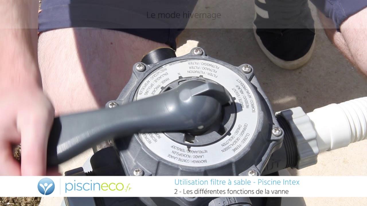 [Tuto] Utiliser Un Filtre À Sable Intex - Position Vanne Et Programmation tout Demontage Vanne 6 Voies Piscine