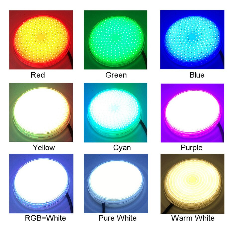 Us $41.5  Pool Beleuchtung 18W 24W 35W 42W Rgb Spot Led Exterieur Piscine  12V Focos Piscina Led Unterwasser Beleuchtung Warm Kalt ... concernant Spot Piscine Led Multicolor