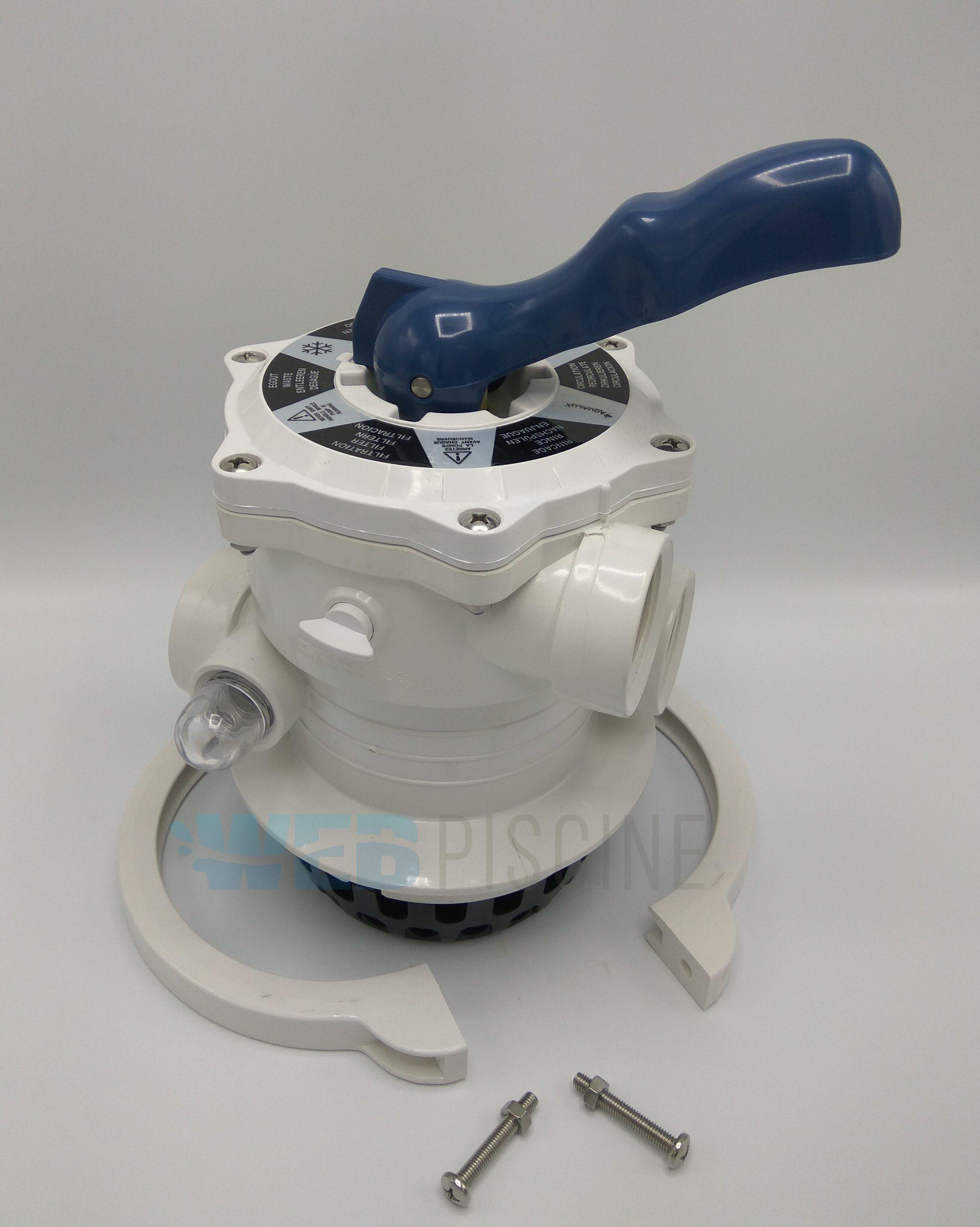 Vanne 6 Voies Top Pour Platine Edg Aqualux intérieur Nettoyage Filtre Piscine Vanne 6 Voies