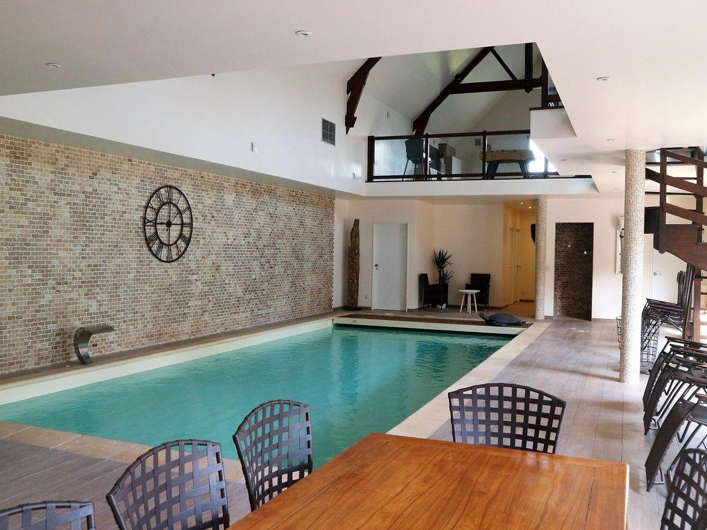 Villa 300 M² (1-6 Pers.) Avec Piscine Intérieure Chauffée À L'année -  Yvelines - Montainville intérieur Maison Piscine Intérieure