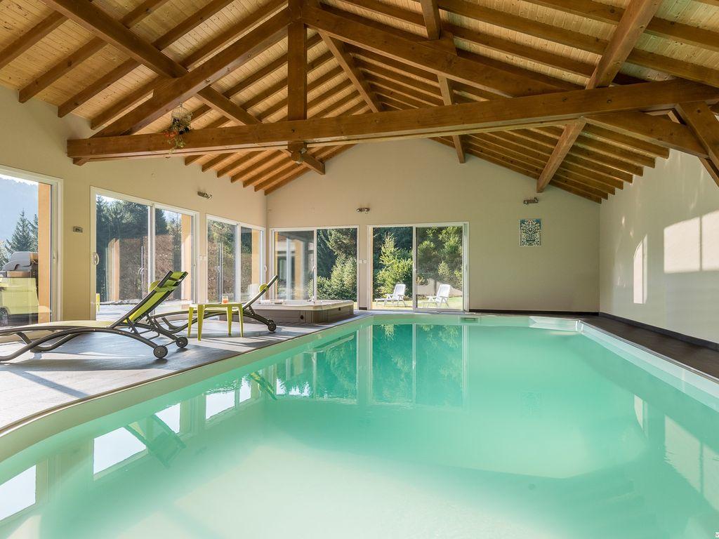 Villa De Montagne Avec Piscine Et Jacuzzi Pour Détente En Famille Ou Entre  Amis. - Fresse-Sur-Moselle tout Location Avec Piscine Couverte