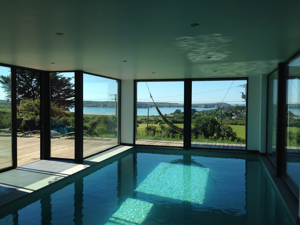 Villa Vue Mer Avec Sauna Et Piscine Intérieure Chauffée Camaret-Sur-Mer -  Camaret-Sur-Mer intérieur Maison Piscine Intérieure