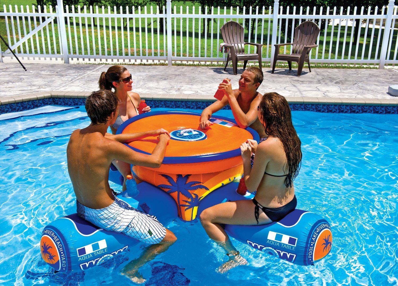 Wow Aqua Floating Table & Bar Gets You Sedentary This Summer ... dedans Bouée Piscine Originale