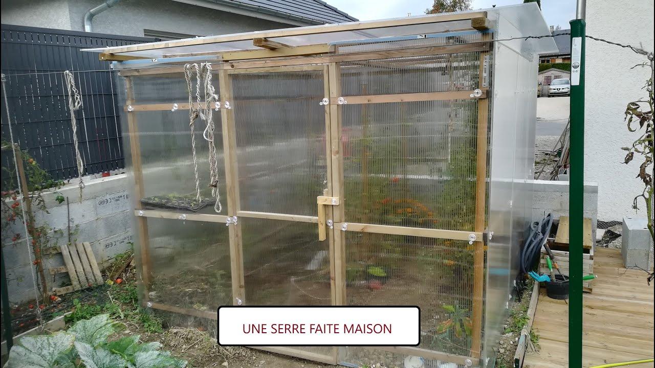 #1 Fabriquer Une Serre En Bois De Jardin (Fait Maison) Et Petit Tour Du  Potager pour Fabriquer Une Mini Serre De Jardin