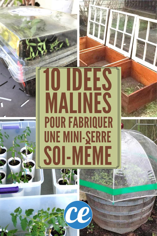 10 Idées Super Faciles Pour Fabriquer Une Mini-Serre ... destiné Fabriquer Une Mini Serre De Jardin