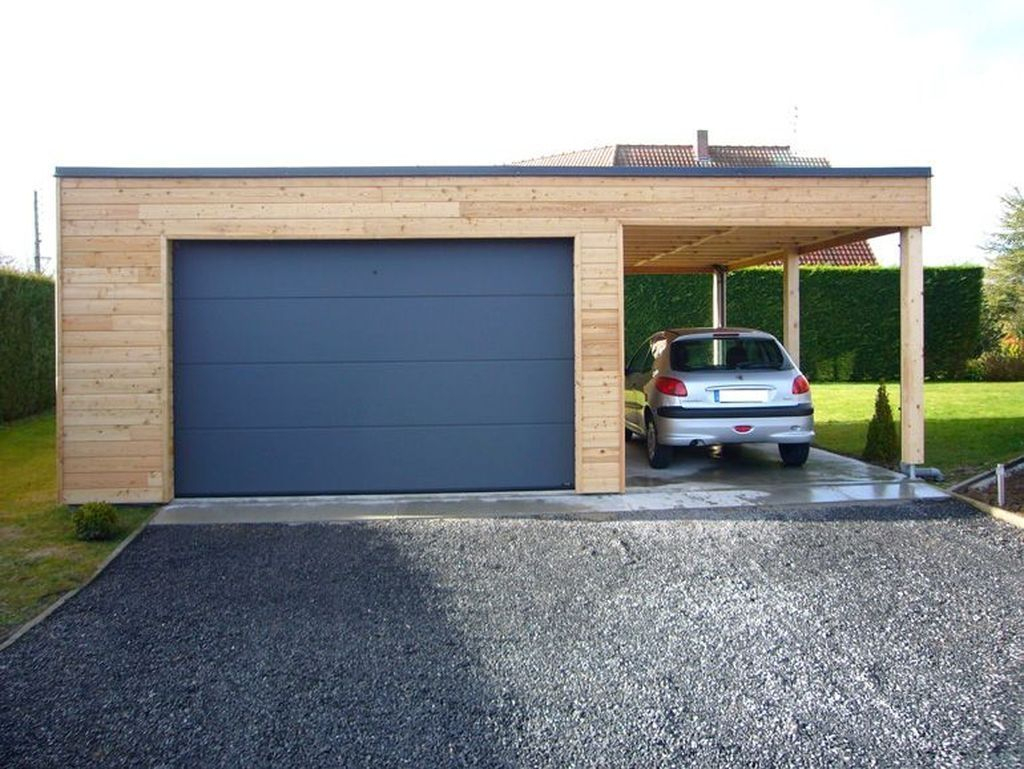 20+ Cute Home Garage Design Ideas For Your Minimalist Home ... à Carport Avec Atelier