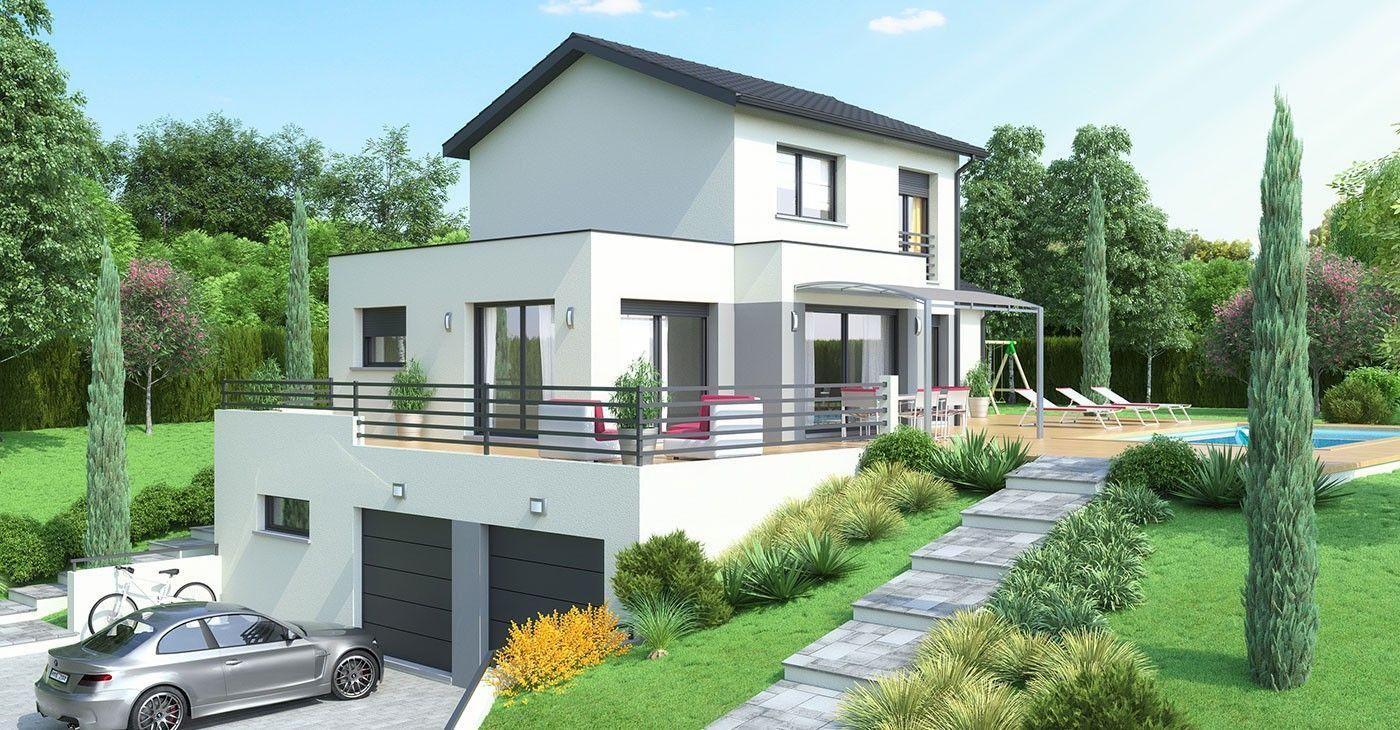 38 Plan Maison Sur Terrain En Pente | Architecture House ... pour Maisons Design En Pente