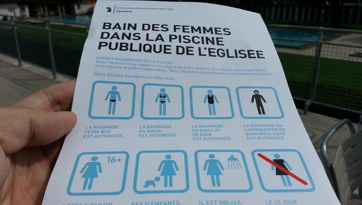 A Bâle, Dans La Piscine Réservée Aux Femmes, C'Est Oui Au ... avec Piscine Réservée Aux Femmes Musulmanes