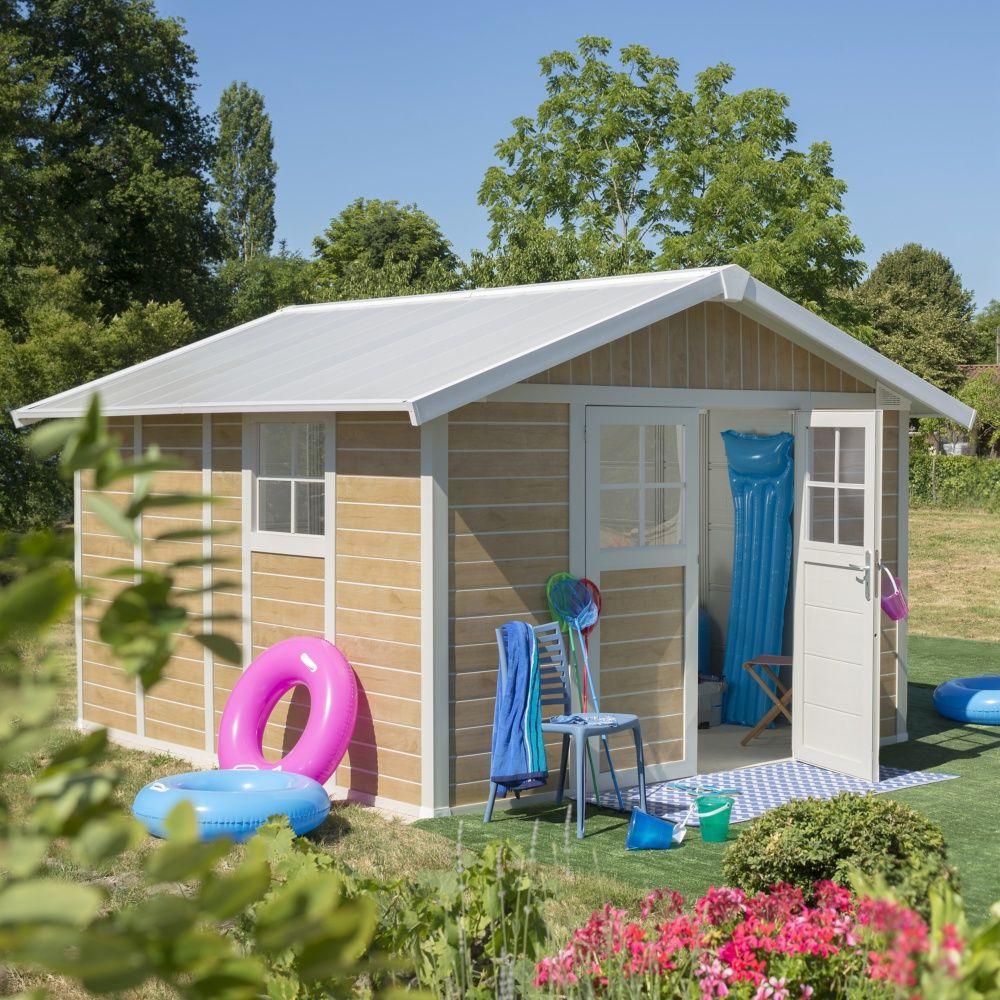 Abri De Jardin Résine Grosfillex 11,2 M² Ep. 26 Mm Sherwood serapportantà Abri De Jardin Résine Grosfillex 11 2 M2