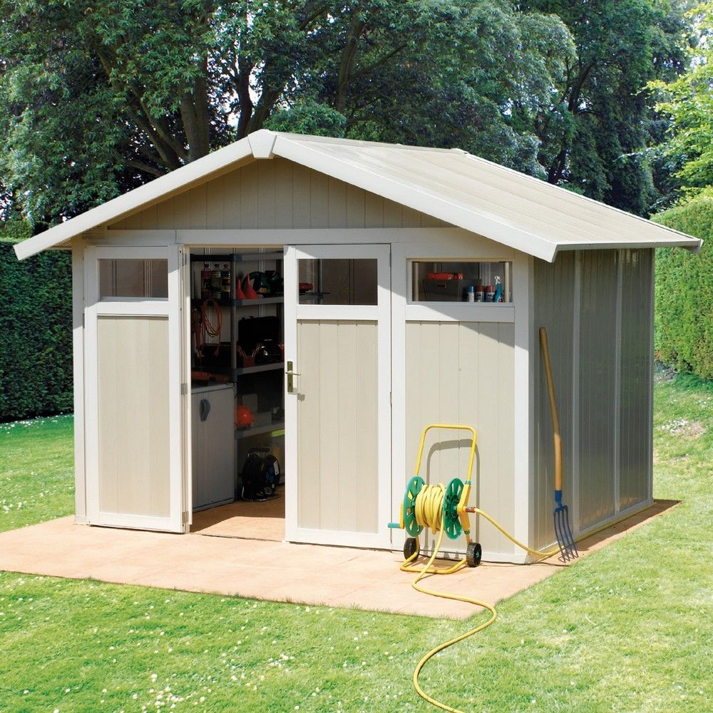 Abri De Jardin Résine Grosfillex 7,53 M² Ep. 26 Mm Utility destiné Abri De Jardin Résine Grosfillex 11 2 M2