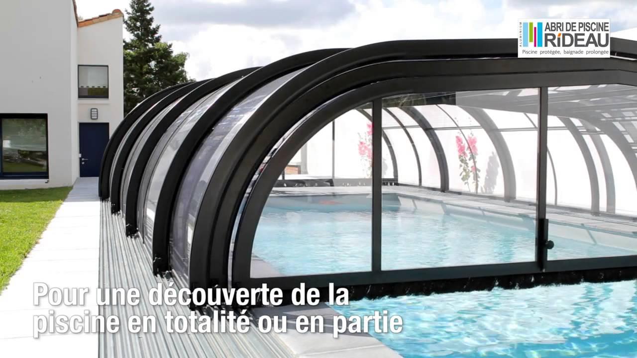 Abri De Piscine Rideau - Elliptik Mi-Haut avec Abri De Piscine Rideau