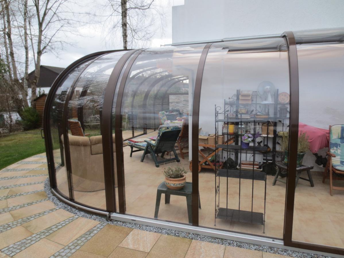 Abri De Terrasse Coulissant Et Veranda Retractable Aluminium ... intérieur Abris De Terrasse Retractable