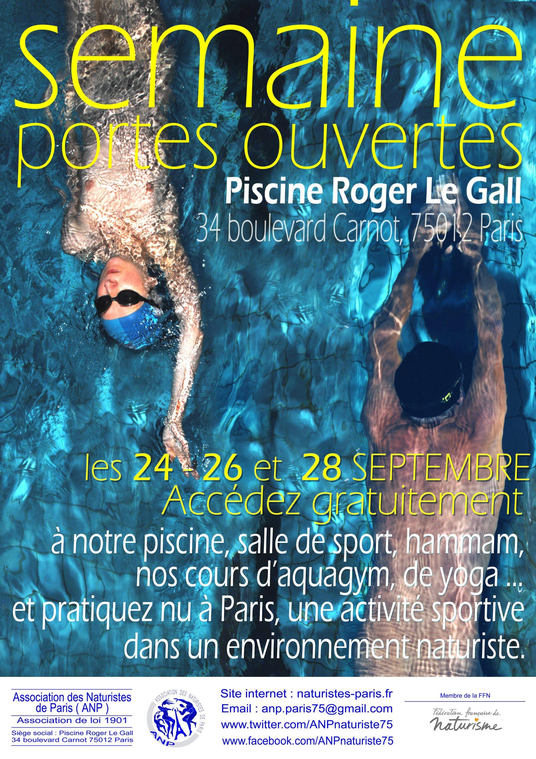 Activités 2018 – Association Des Naturistes De Paris concernant Piscine Roger Le Gall Naturiste