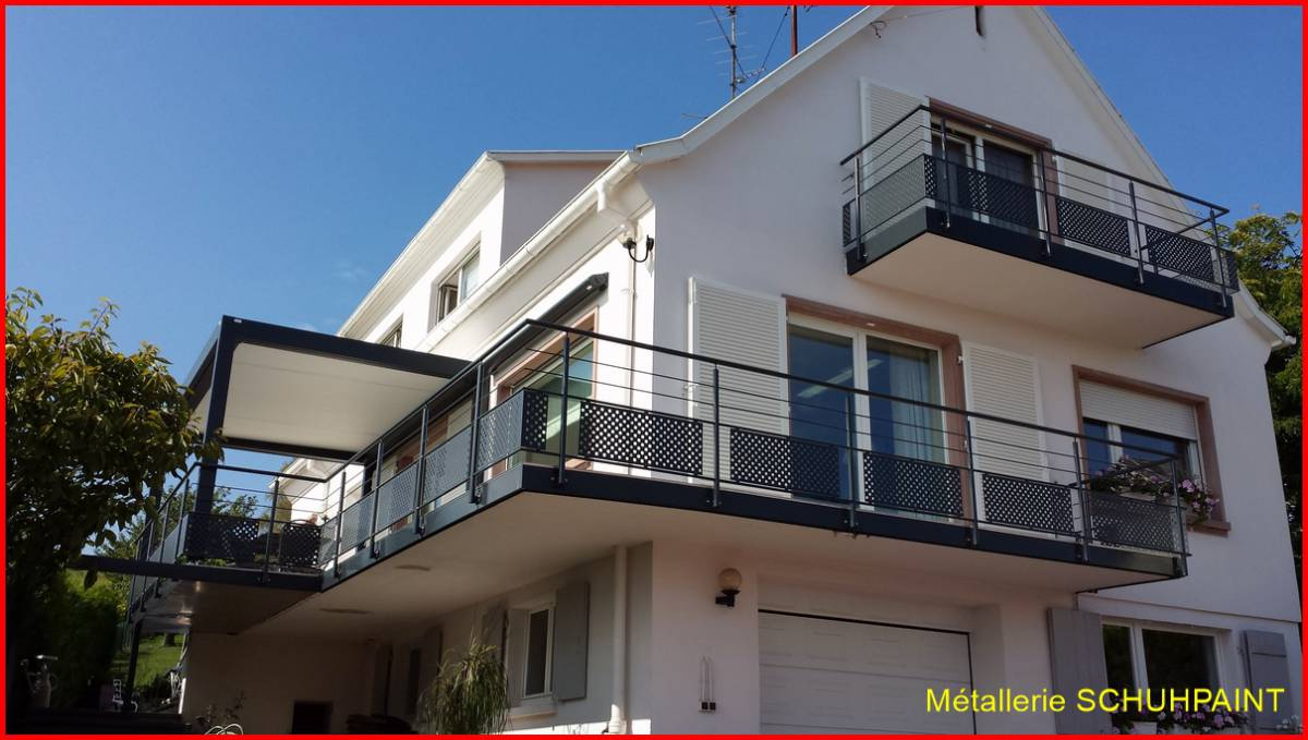 Agrandissement De Balcon Métallique À Ribeauvillé Proche ... dedans Agrandir Un Balcon Existant