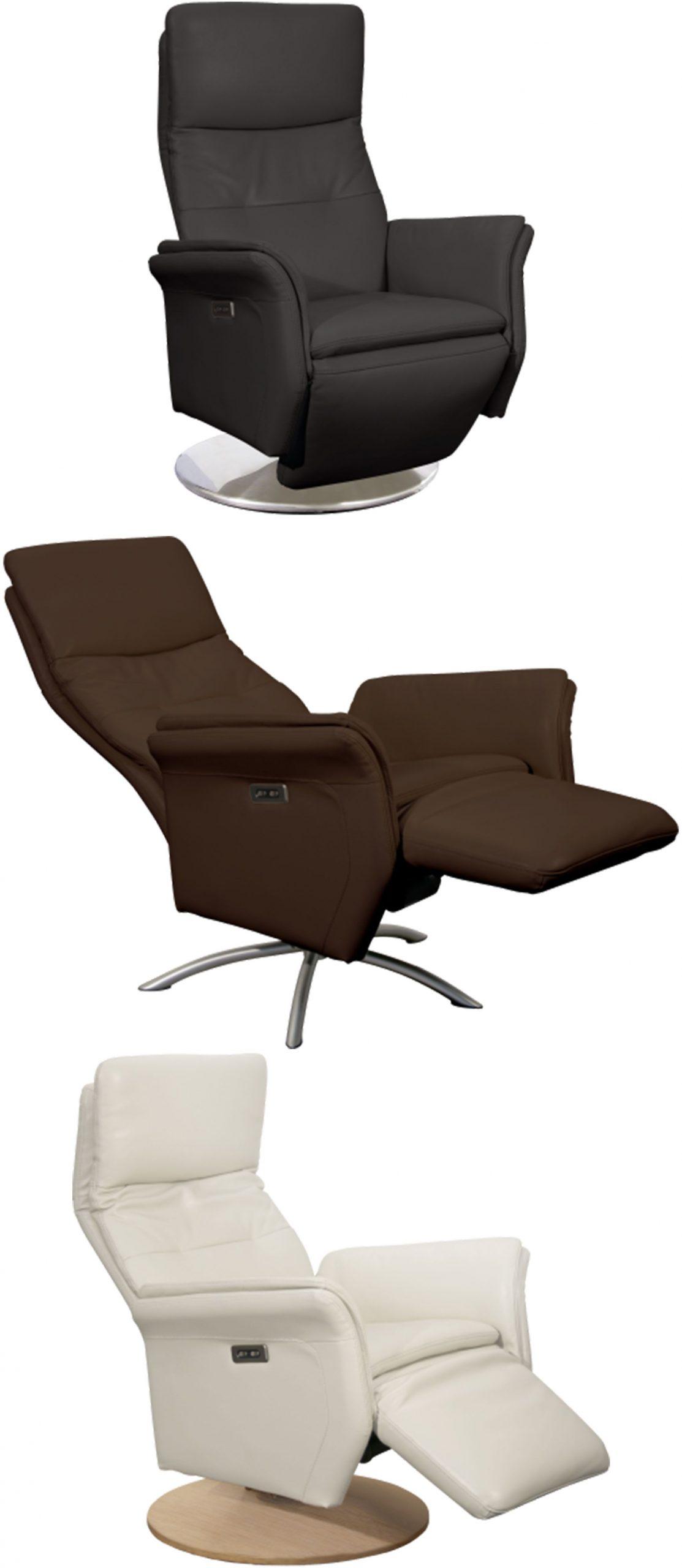 Allure Fauteuil Relax Pivotant 2 Moteurs En Cuir Véritable ... intérieur Fauteuil Relax Électrique Ikea