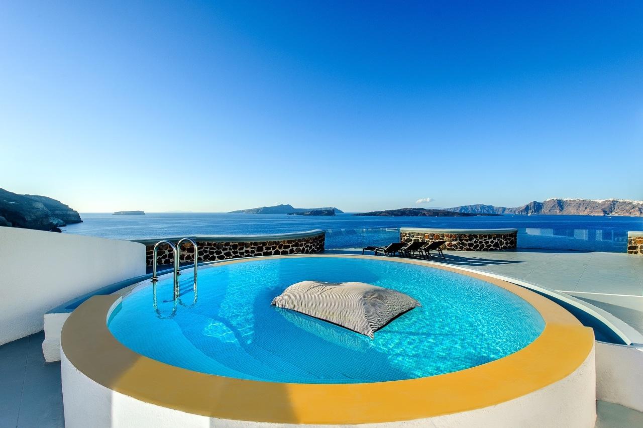 Ambassador Santorini Luxury Hôtel 5* Grèce | Voyage De Luxe ... dedans Hotel Santorin Avec Piscine Privée