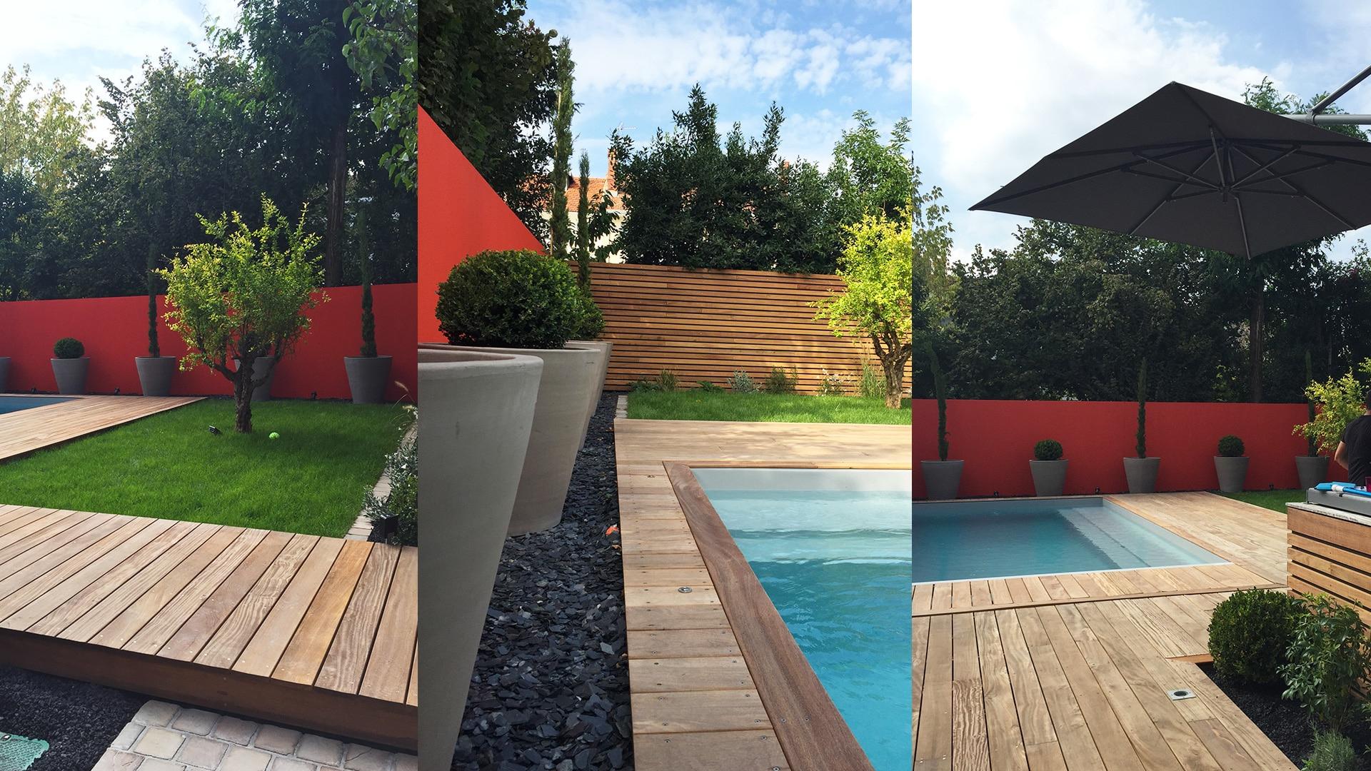 Aménagement Extérieur D'Une Piscine À Bordeaux intérieur Conception Jardin Piscine Bordeaux