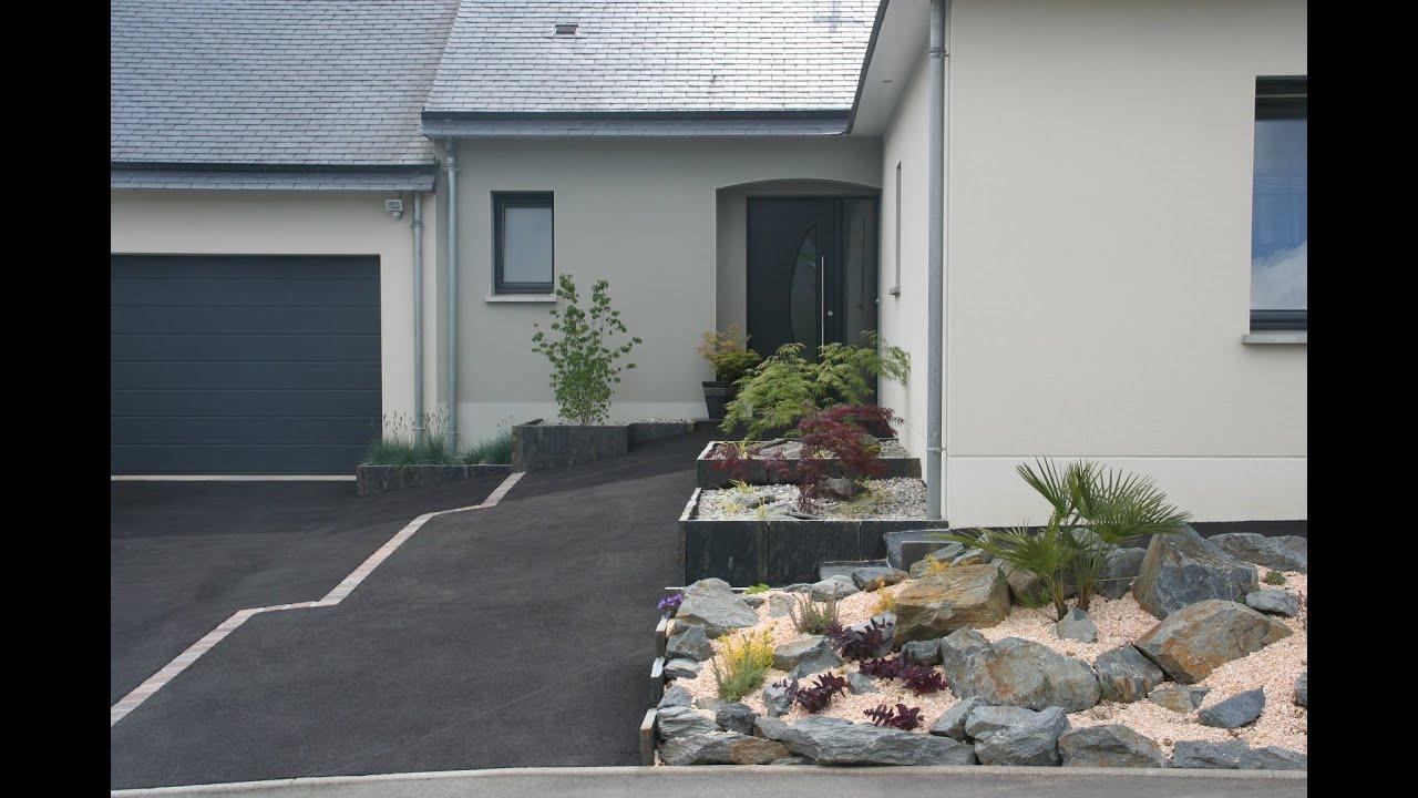 Aménagement Zen Autour D'Une Maison destiné Devant De Maison