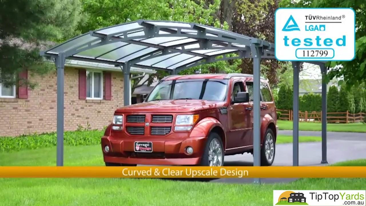 Arcadia Carport 5000 Palram - Tip Top Yards - intérieur Tip Top Yards