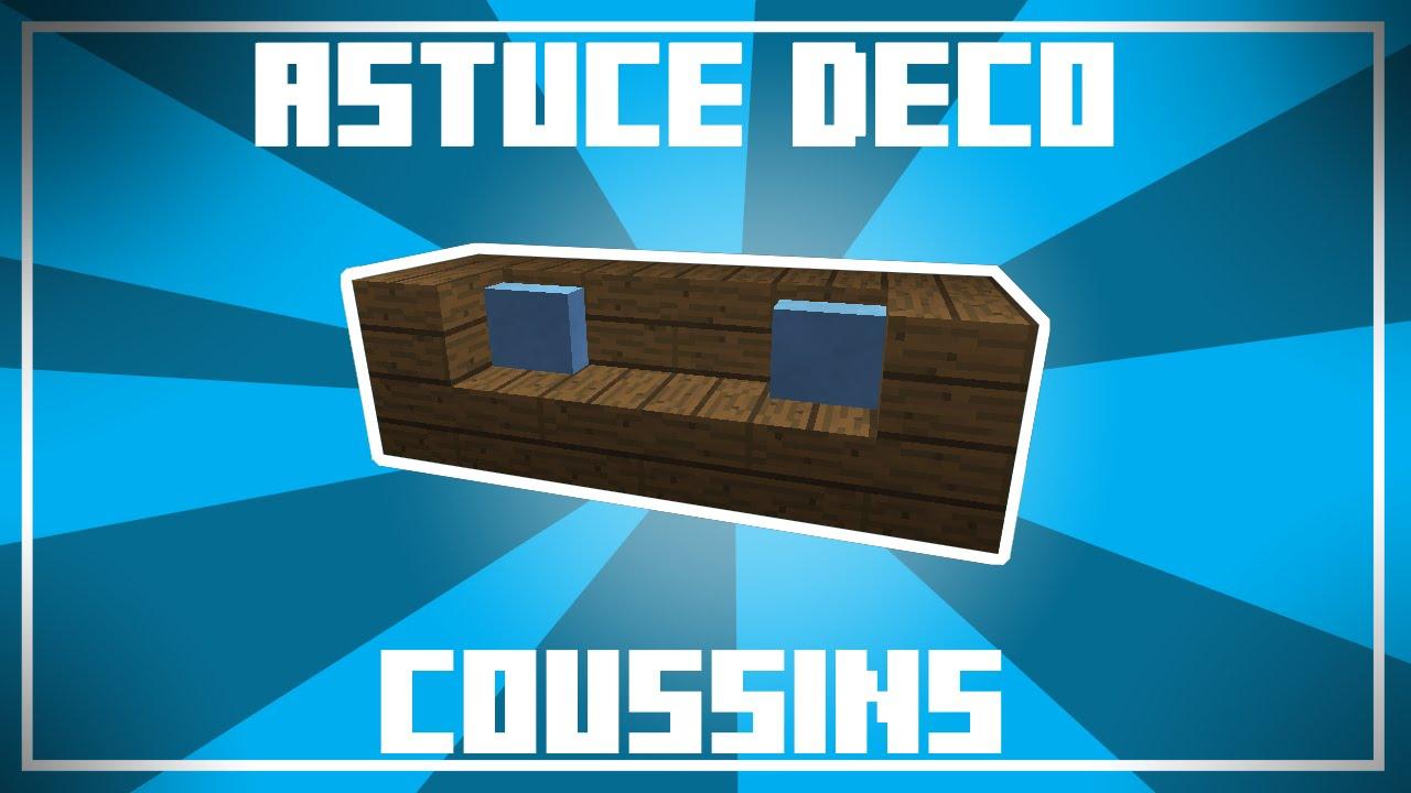 Astuce Déco - 2 Designs De Coussins Dans Minecraft ! (Pour Canapé) intérieur Comment Faire Un Canapé Sur Minecraft