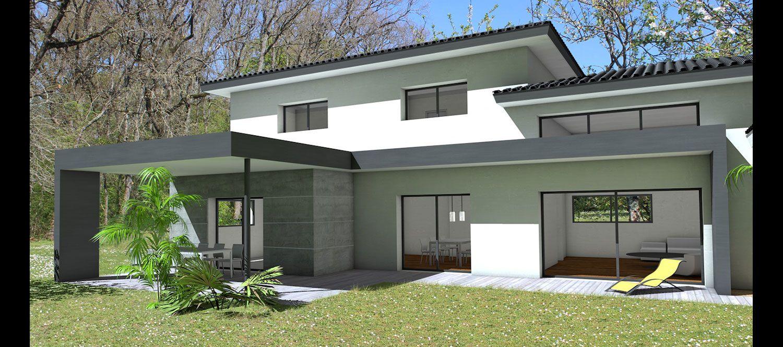 Atelier Scenario Architectes - Maison Contemporaine À Tuiles ... tout Terrasse Couvertemoderne