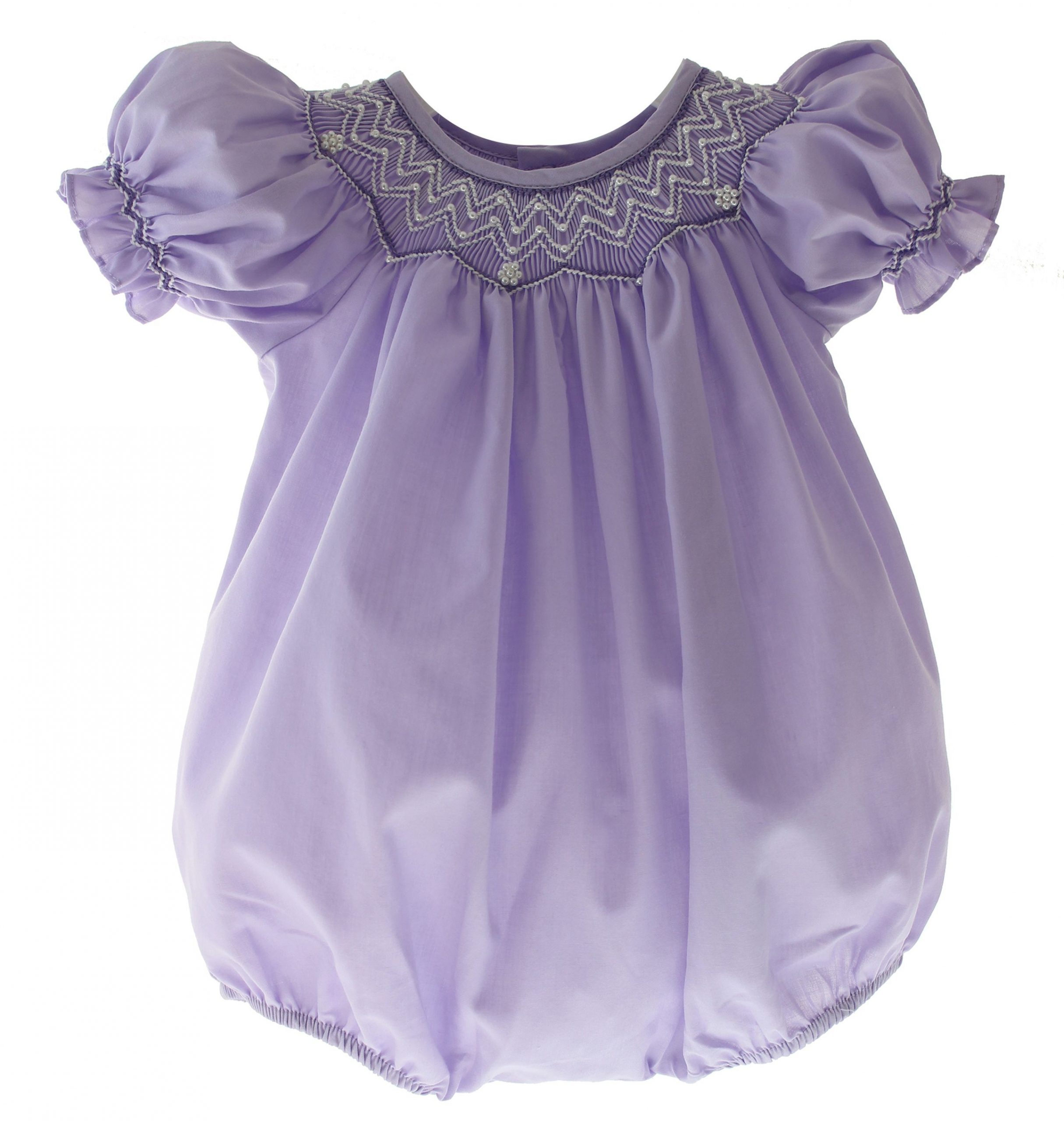 Baby Girls Purple Smocked Easter Bubble Outfit | Bubble ... serapportantà Bubble Occasion
