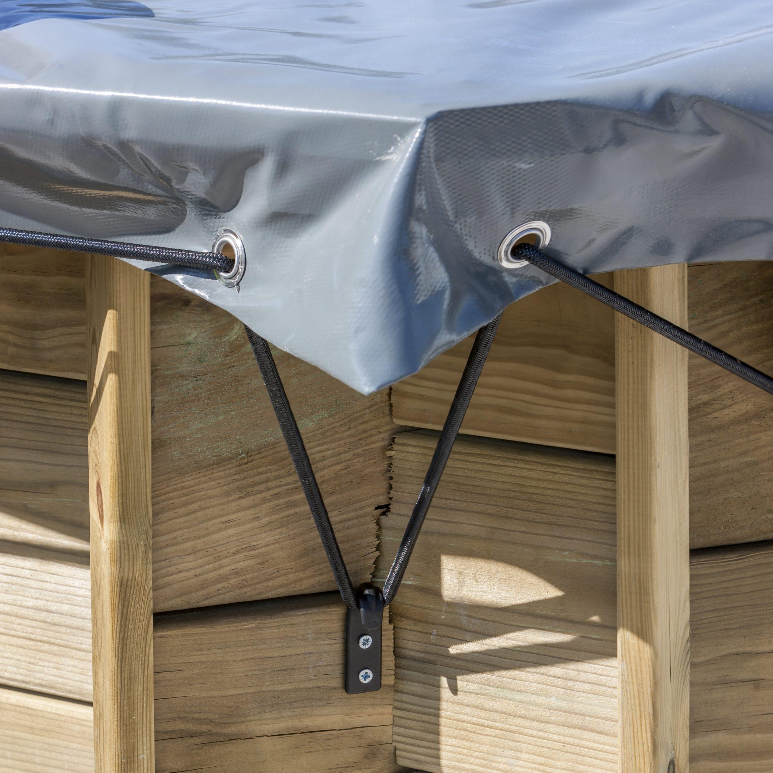 Bâche Hiver Rectangulaire Gre Pour Piscine, L.460 X L.260 Cm serapportantà Bache Piscine Rectangulaire Leroy Merlin