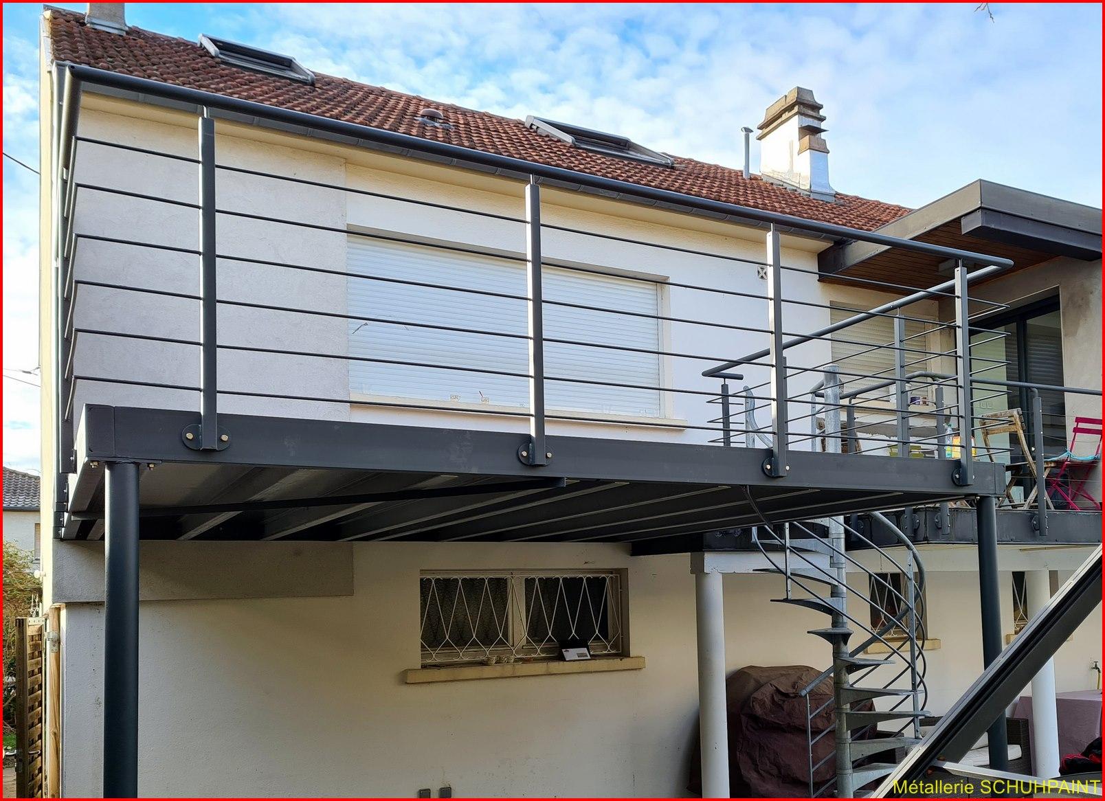 Balcon Et Terrasse Métallique - Metallerie Schuhpaint avec Agrandir Un Balcon Existant
