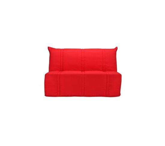 Banquette Bz Sanna 140X190 Cm 3 Places - Tissu Rouge - L 143 X P 101 X P 95  Cm tout Pièce Detachee Bz But