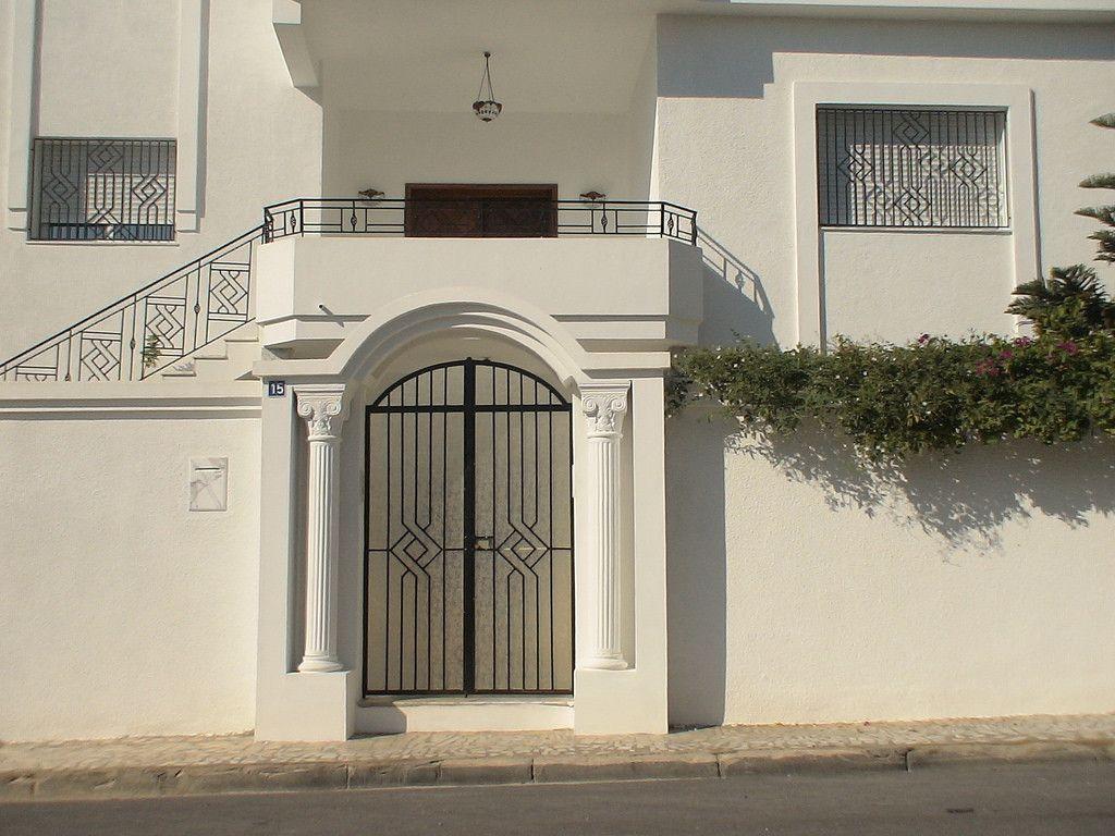 Beautiful Porte En Fer Exterieur 8 Porte Ext Rieure En Fer ... serapportantà Decoration Cloture Exterieur Maison En Tunisie