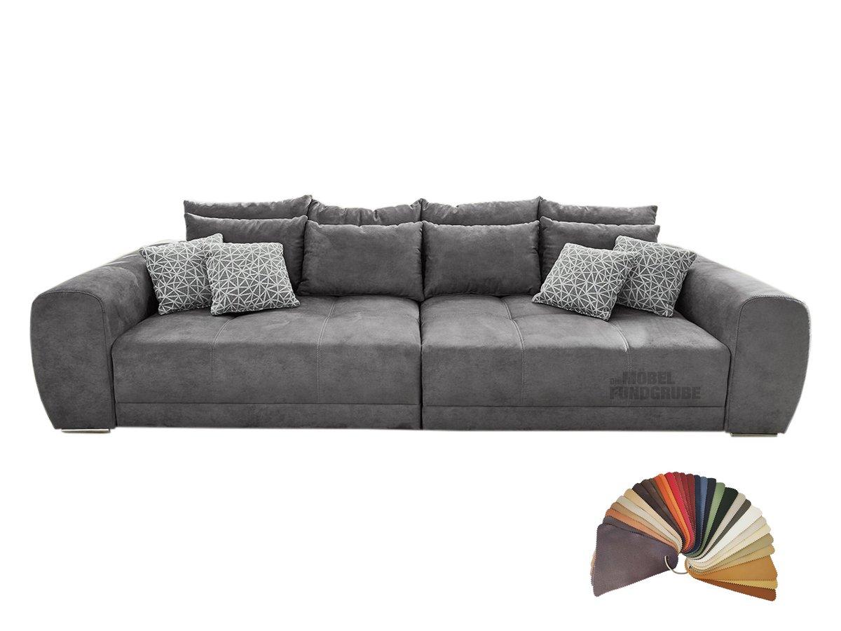 Big Sofa Mit Federkern Grau 306 Cm - Moldau | 1007006207 à Canapé Mobel Fundgrube