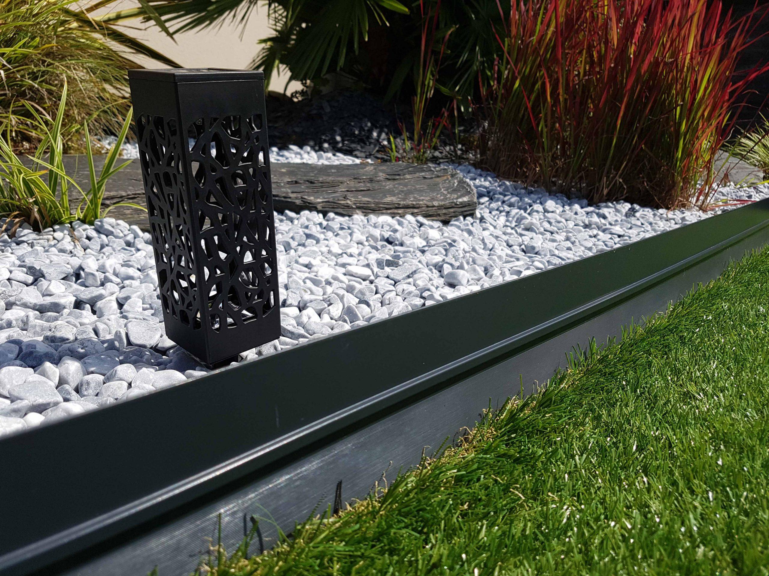 Bordure Bordalu Gris Anthracite avec Bordure Jardin Japonais