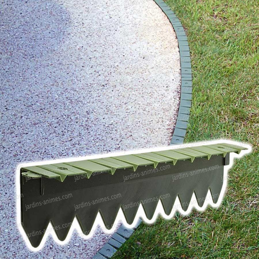 Bordurette Pelouse 6X50Cm | Bordure Jardin Plastique ... avec Bordure Acier Galvanisé Castorama