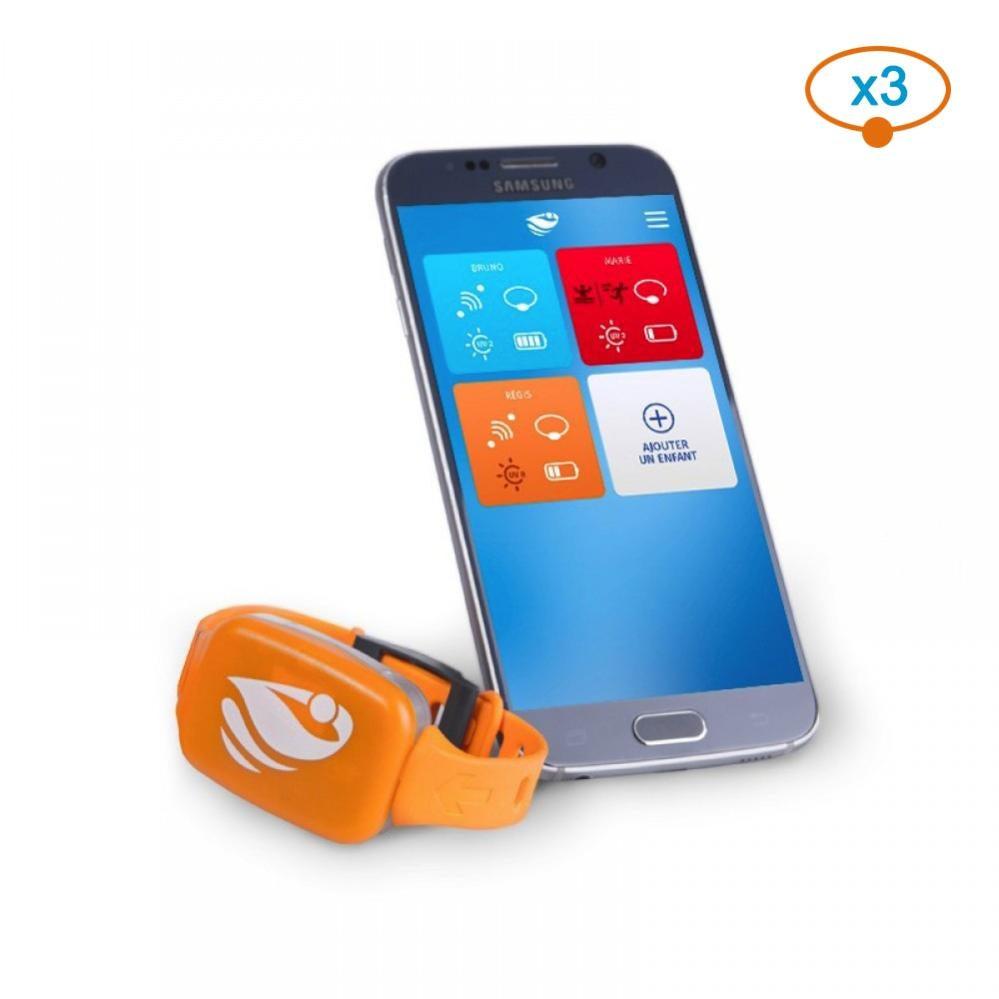 Bracelet Alarme Piscine No Stress Avec Application Smartphone – Kit 3 serapportantà Bracelet Alarme Piscine