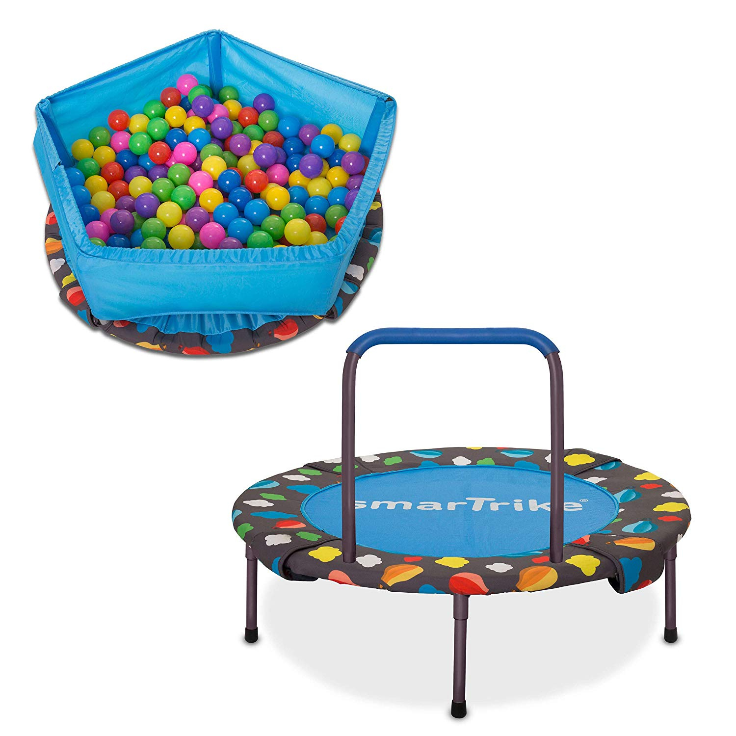 Buy Smartrike Indoor Toddler Trampoline With Handle, Ball Pit - 100 Balls  Included For Cad 129.99 | Toys R Us Canada tout Piscine A Balle Toysrus