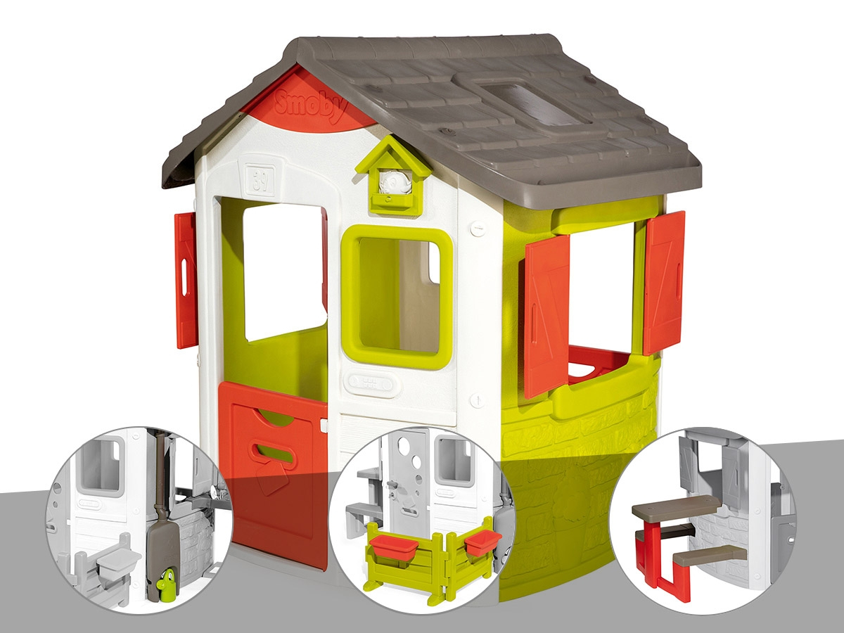 Cabane Enfant Neo Jura Lodge - Smoby - Cabane Seule serapportantà Bache Cabane Smoby
