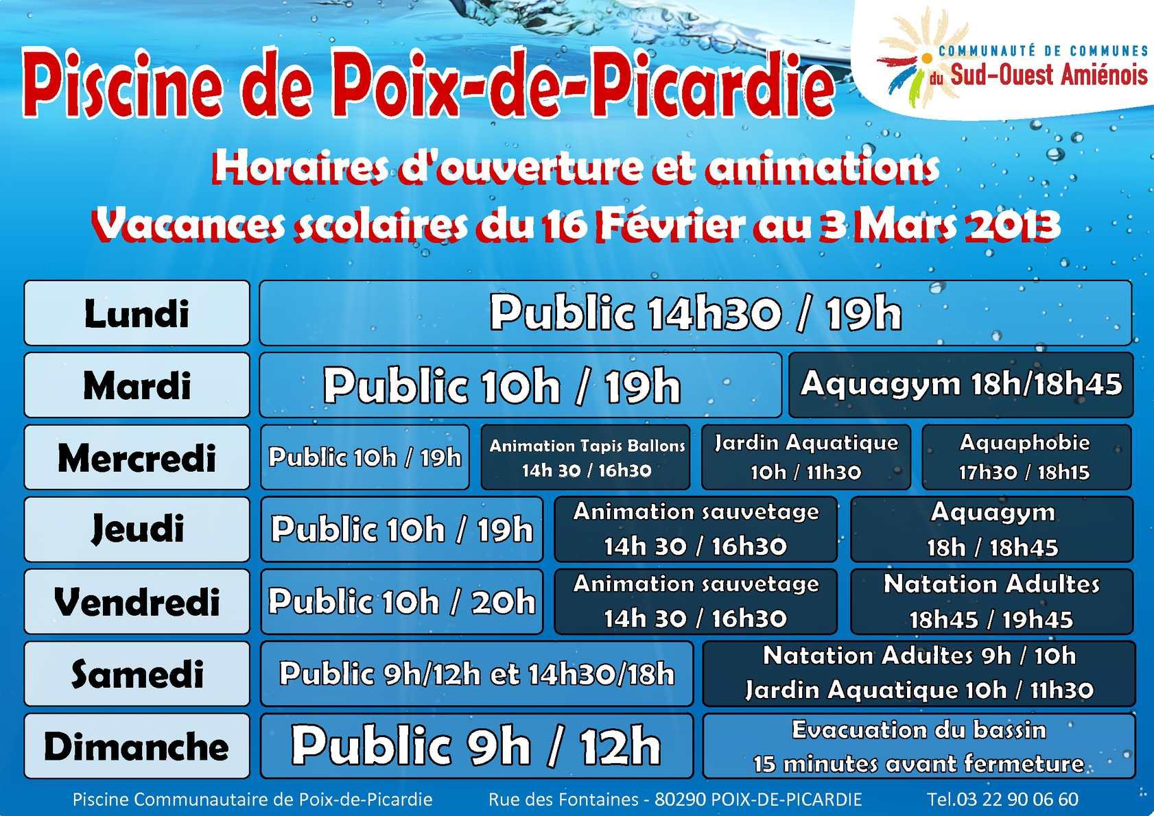 Calaméo - Piscine Communautaire De Poix-De-Picardie ... pour Piscine Poix De Picardie