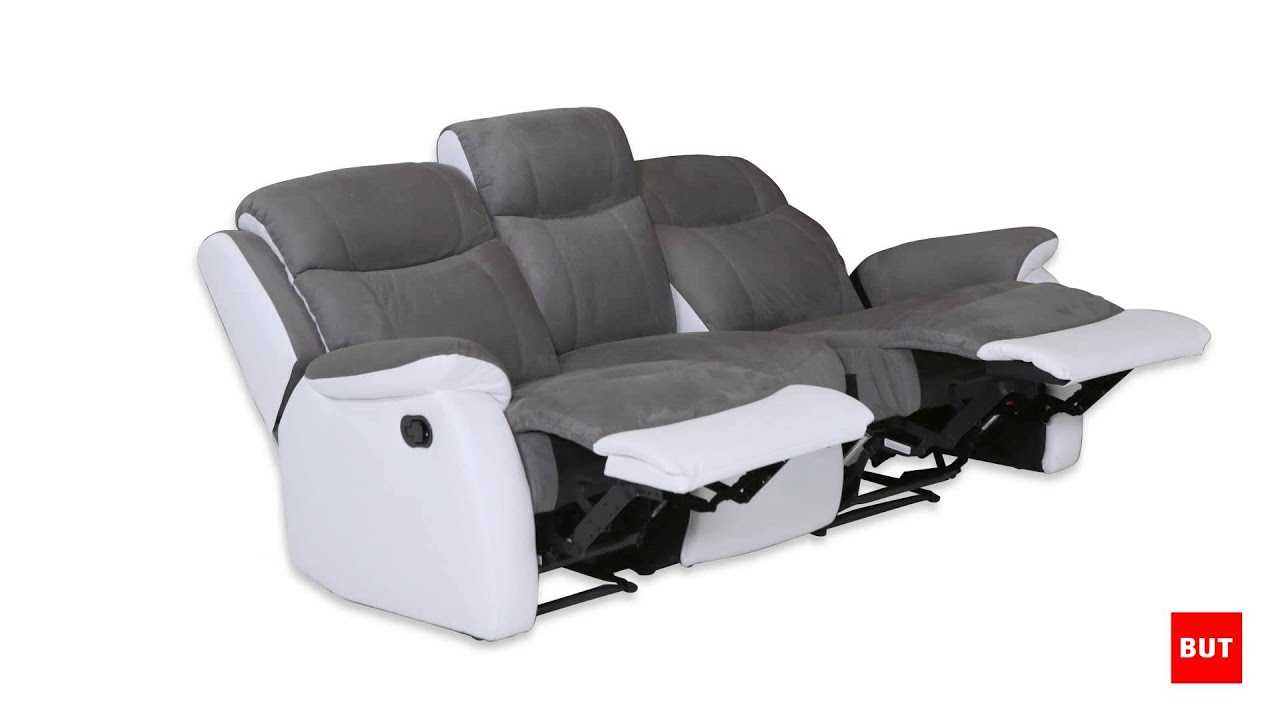 Canapé 3 Places Relax Warm - But serapportantà Fauteuil Memphis Conforama