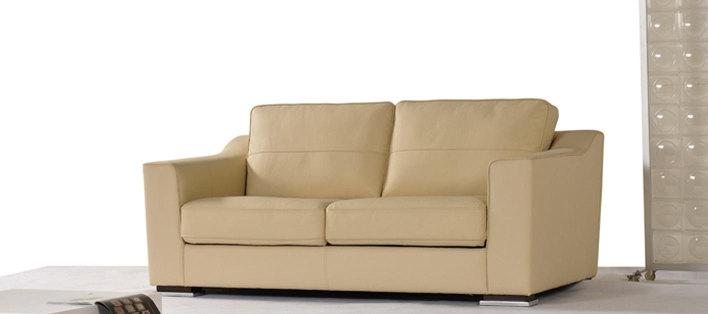 Canapé Cuir Convertible Curve à Canapé Lit Cuir Ouverture Portefeuille