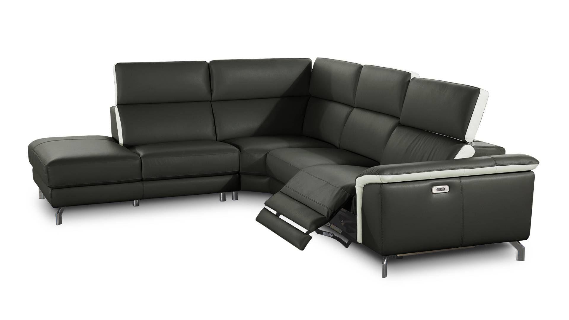 Canape Cuir Relax Electrique Conforama Canapé D Angle Cuir ... pour Canapé D'Angle Arrondi Conforama