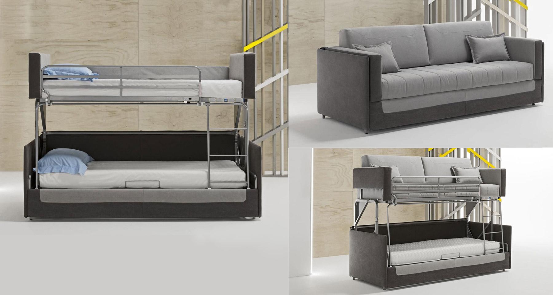 Canapés-Lits Originaux Et Lits Cachés Design - Decostock pour Canapé Relax Convertible Double Couchage