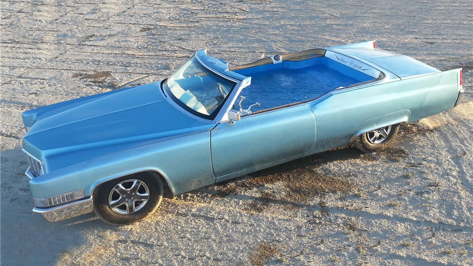 Carpool De Ville: Ecco L'Incredibile Cadillac Con Piscina ... serapportantà Piscine Cadillac