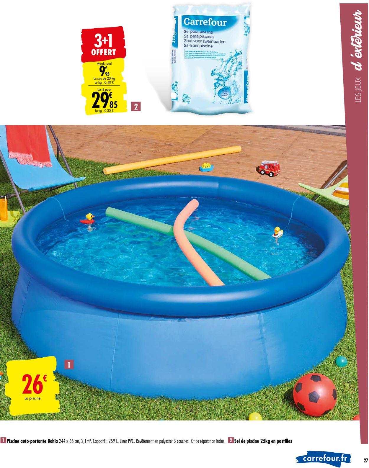 Carrefour Catalogue Actuel 28.04 - 11.05.2020 [27 ... dedans Piscine Enfant Carrefour
