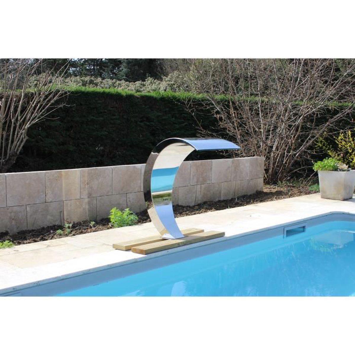Cascade Inox Fontaine Piscine Bassin Modèle Cobra Hauteur 80Cm Acier  Inoxydable dedans Cascade Pour Piscine