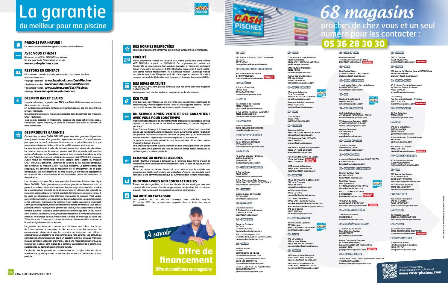 Catalogue Cash Piscine 2017 By Octave Octave - Issuu serapportantà Cash Piscine Tours