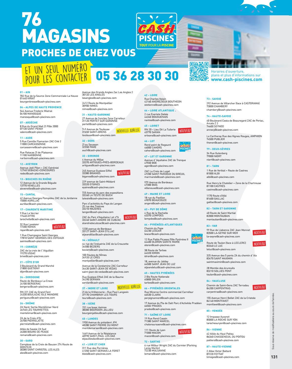 Catalogue Cash Piscine 2018 By Octave Octave - Issuu dedans Cash Piscine Tours